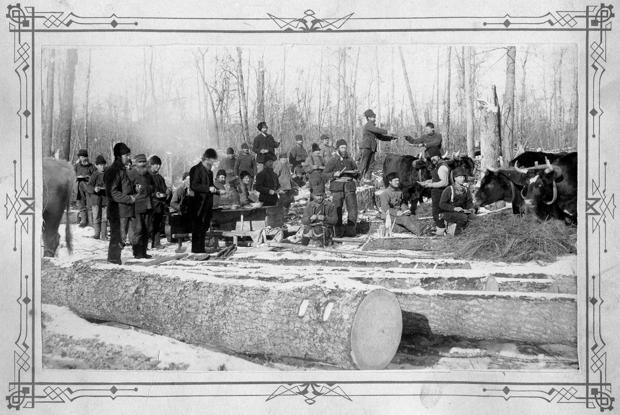 Scenes of Yesteryear: Early Knapp, Stout & Co. Company logging operations