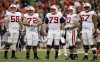 UW offensive line at Illinois