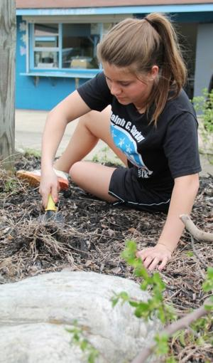 Volunteer pitch-in for Community Action Day