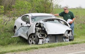 Driver walks away uninjured after head-on collision