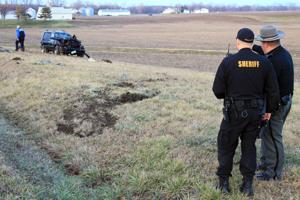 Deputies investigate crash scene