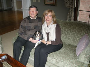 Steve and Judy Willensky with their dog
