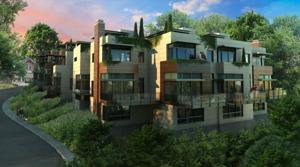 An artist's rendering of the Clifton Pointe luxury townhomes in Lakewood