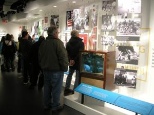 Guests take in the exhibits