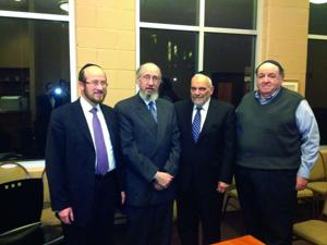 Rabbi Wein, second from right