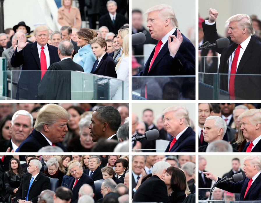 Comparing Trump, Obama inauguration attendance in photos