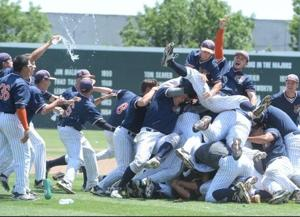 <p>The Pirates celebrate their second straight state title after defeating what many considered the best community college teams in the country Monday in Fresno.</p>