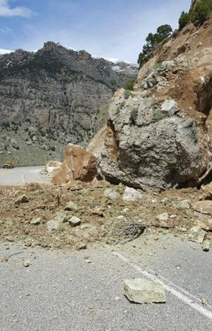 Wind River Canyon roadway remains open; drivers asked to avoid stopping in canyon