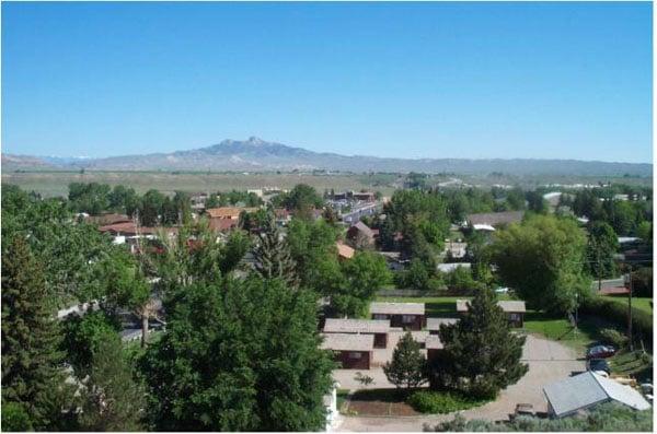 View of Cody & Heart Mountain