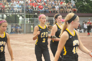 The Center Point-Urbana Stormin' Pointers took on Greene County in the Quarterfinals of the 2014 Iowa State Softball Tournament Monday, July 21 at 5 p.m. in Fort Dodge.