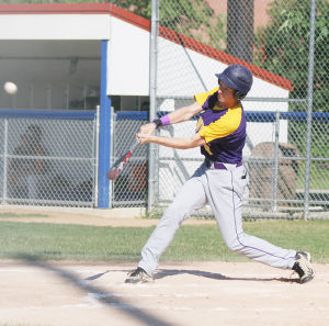 <p>Leadoff batter Tyler Vogel had one of Oelwein's three hits Friday and also scored the team's lone run.</p>