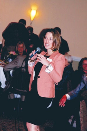 "<p>Self-Help International Executive Director Nora Tobin speaks to attendees at ""Seeds of Change: An Evening of Art &amp; Culture.""</p>"