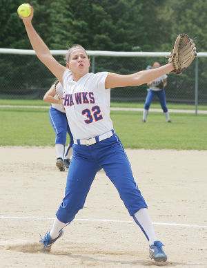 <p>Kelsey Lough picked up the pitching win for Jesup Friday.</p>