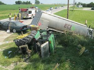 Albert Bearbower was fatally injured in this accident north of the Rowley corner on Highway 150.