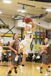 Waverly-Shell Rock freshman Olivia Phillips (2) goes up for a layup in the Go-Hawks' regular-season finale, a 65-26 victory, on Tuesday, Feb. 9, 2016 in Go-Hawk gymnasium.