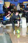 Waverly-Shell Rock's Alex Denton broke a 9-year-old record when he rolled a 525 series, scoring games of 266 and 259, during the Go-Hawks' 2,999-1,481 win over North Iowa at the Waverly Bowl Inn on Friday, Dec. 12, 2014.