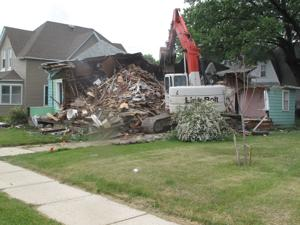 <p>The house going down at 204 N. Frederick Ave.</p>
