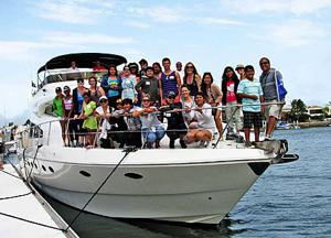 Forty children were hosted by the Coronado Cays Yacht Club last weekend for a day on the bay.