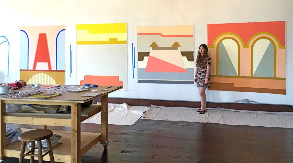 Painter, Barrie, influenced by Corsicana's places, spaces