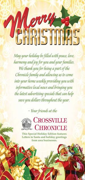 Crossville Chronicle Christmas Greetings
