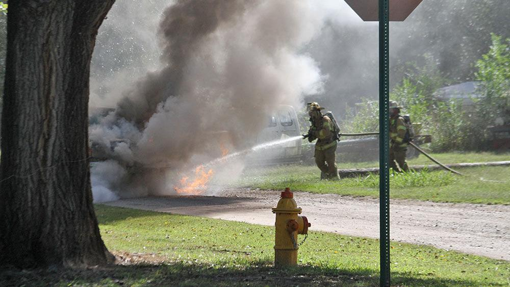 Vehicle fire in Ark City