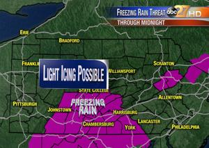 Weather Alert: Freezing Rain Advisory issued Monday