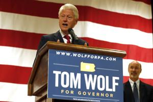 Bill Clinton campaigns in Pittsburgh for Tom Wolf
