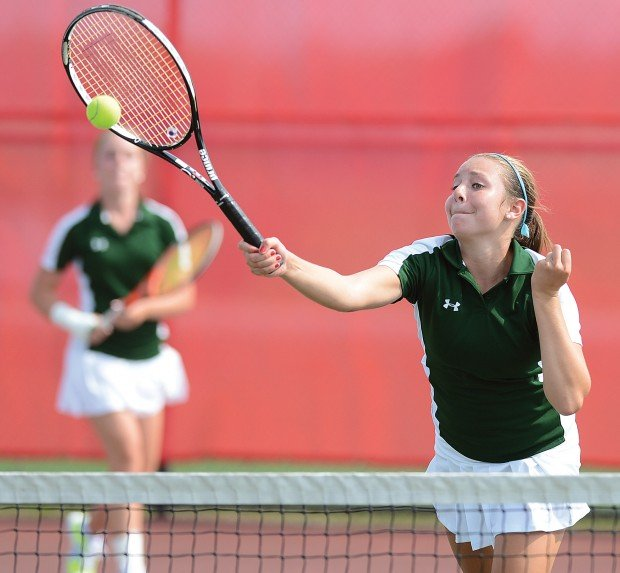 girl 39 s tennis doubles victories lead cv to comeback win