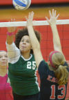 HS Girls Volleyball: Eagles clicking in sweep of Carlisle