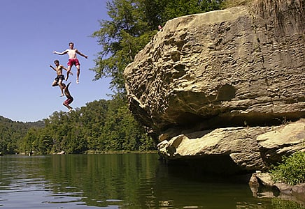No 3 Cliff Diving Banned At Grayson Lake Local News