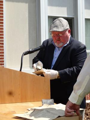 Artifacts from 1921 found inside West County Middle School's cornerstone