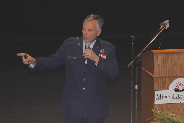 Air Force 'rising star' speaks at MAC