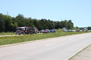 Truck fire shuts down Highway 32