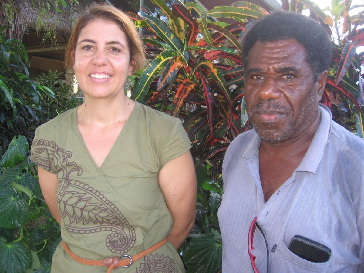 Dr Siobhan McDonnell and her North Efate papa, Richard Matanik.