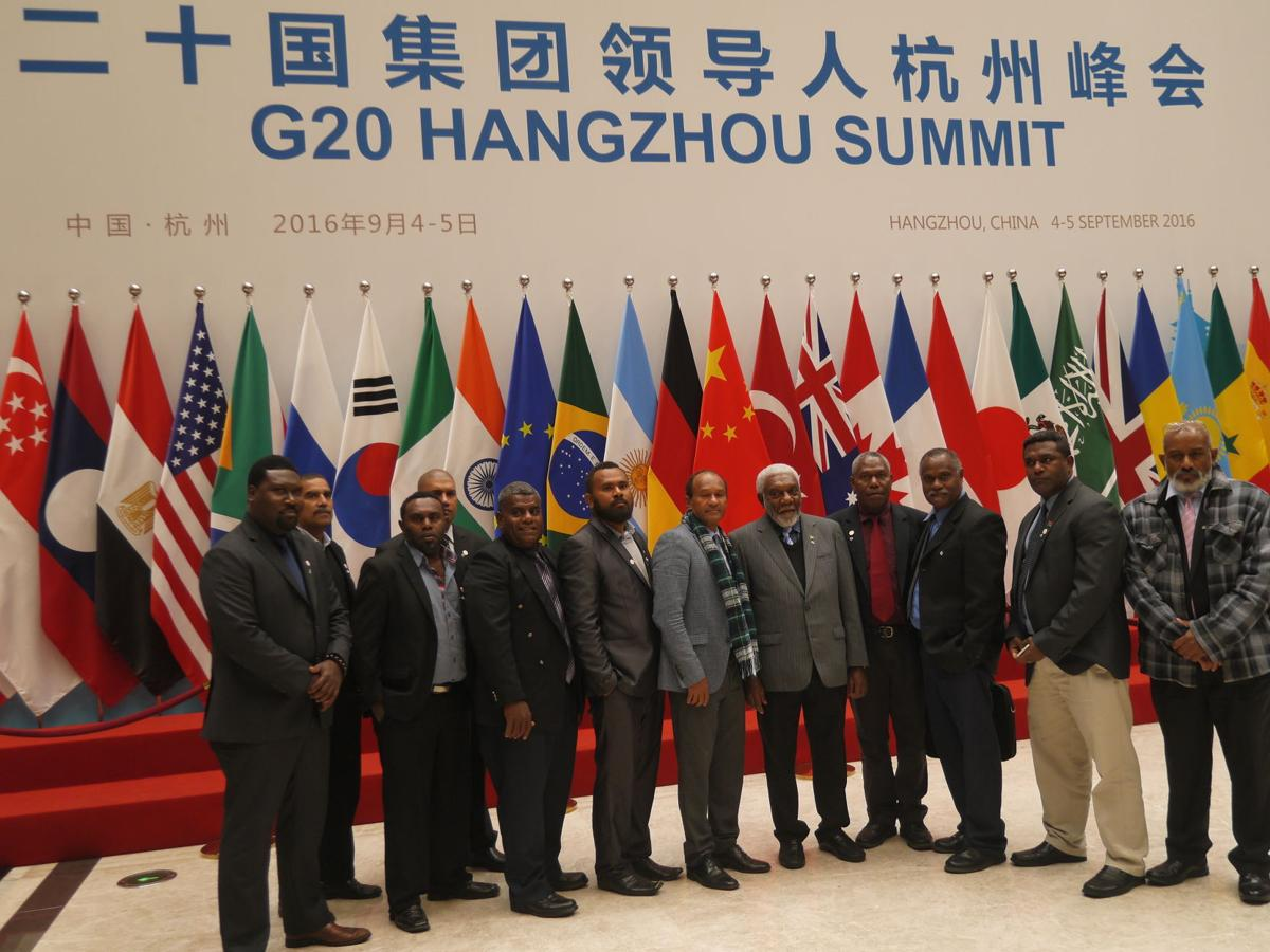 Vanuatu delegation visits 2016 G20 Summit venue