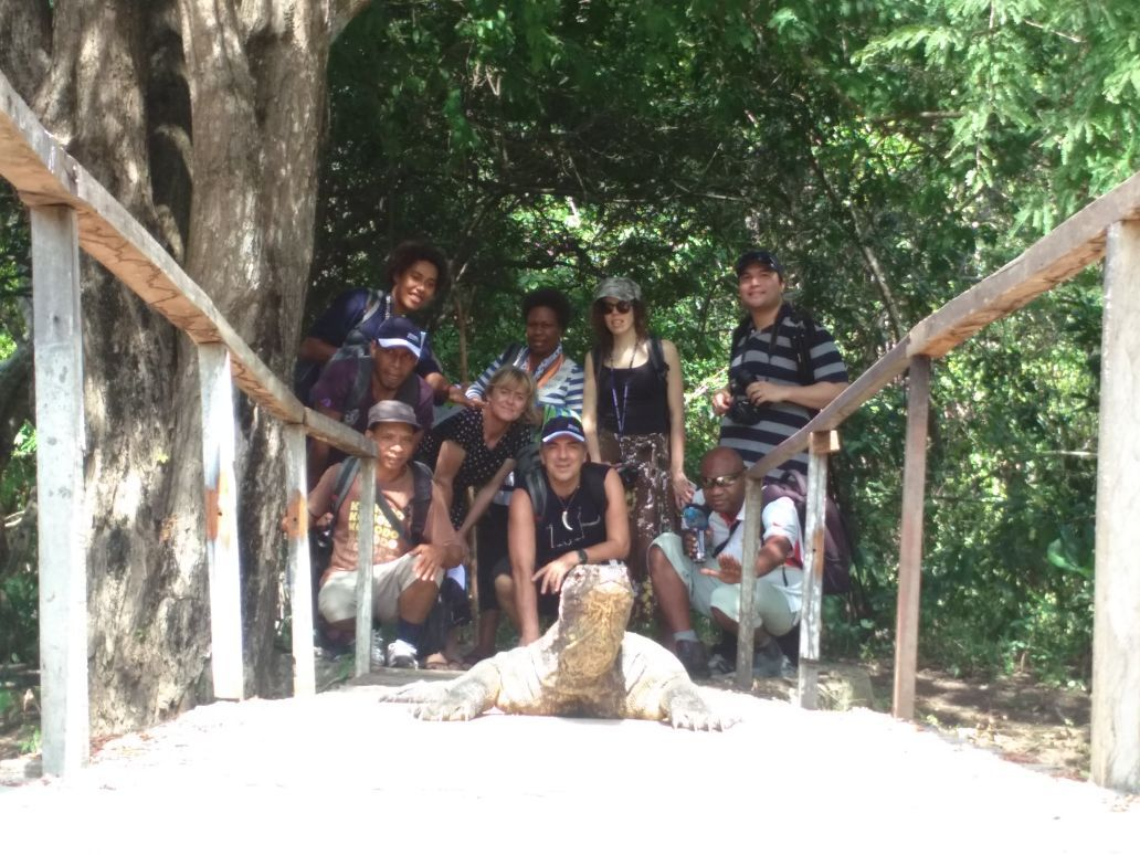 Journalists with Komodo
