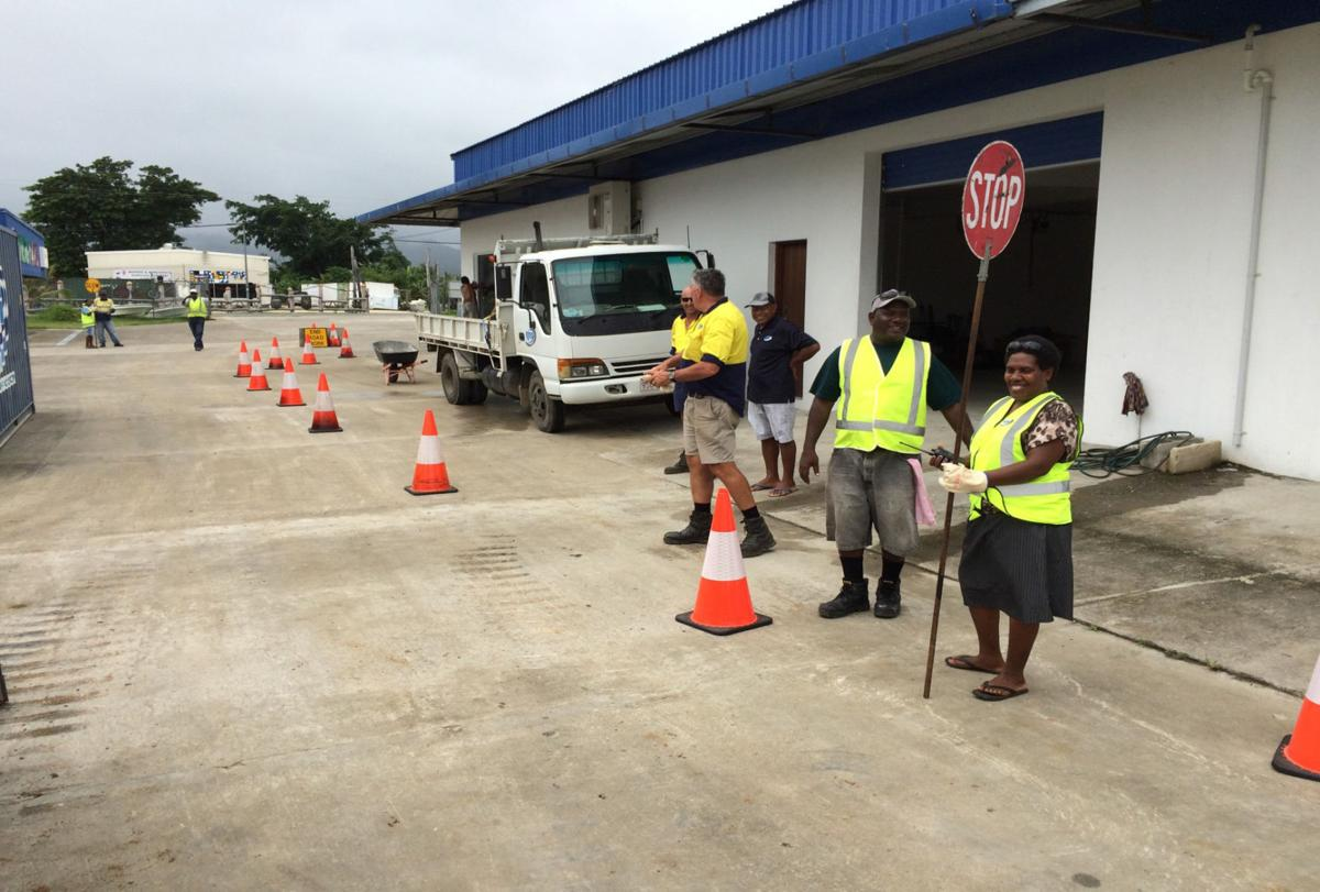 RMS Traffic Controllers: Brave Women working on the roads