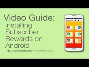 Video Guide: Installing Subscriber Rewards on Android