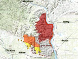 Colockum Tarps fire status map