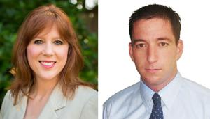 Kim Wyman and Glenn Greenwald