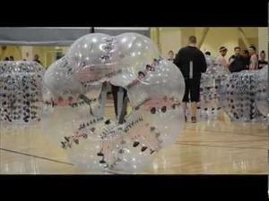 Bubble ball soccer at Central Washington University