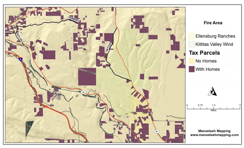 Map of Taylor Bridge Fire