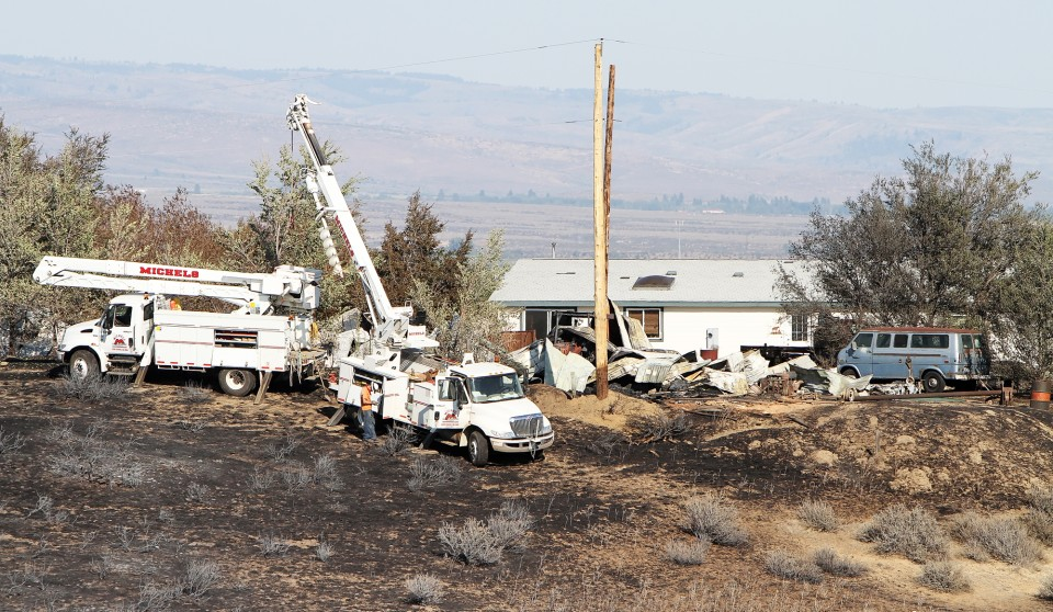 Power is back on in fire areas  News  dailyrecordnews com
