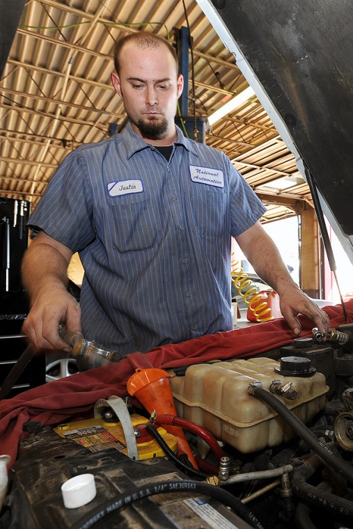 Mechanic Justin Christy