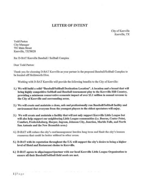 Letter Of Intent Not To Renew Contract