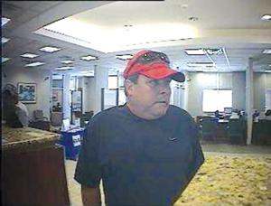 Suspect sought in bank robberies