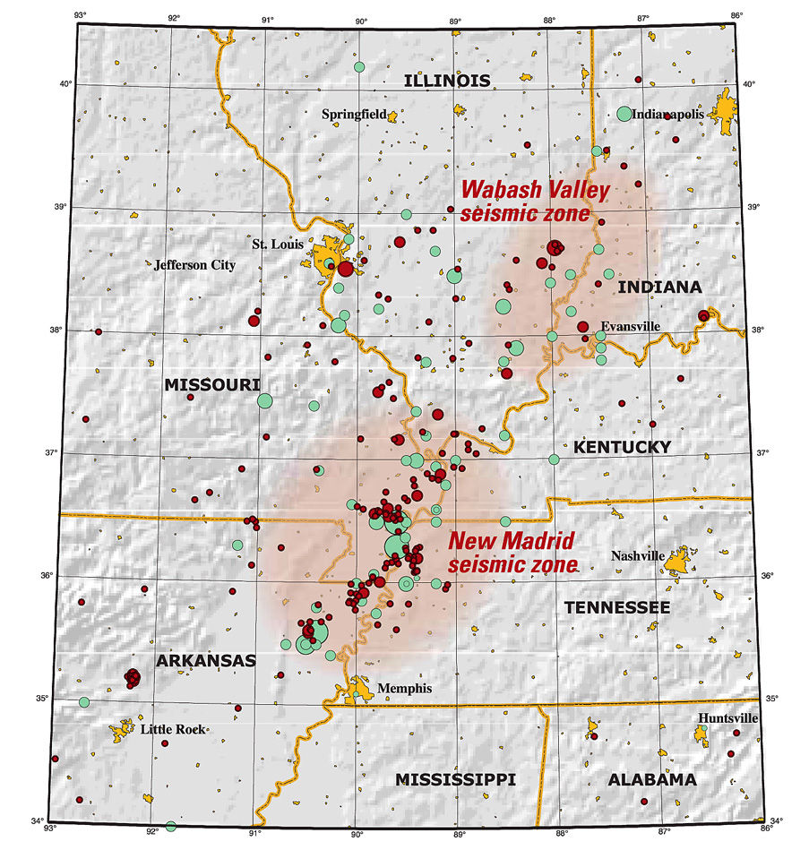 The Big One Preparing For MidAmerica Earthquake Local News - Map of us after new madrid earthquake