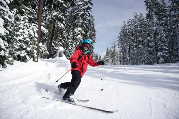 Mountain snowpack above average