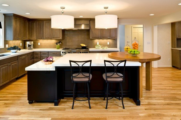 Multi level kitchen island for Two level kitchen island