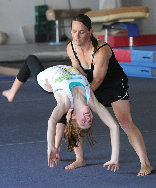 Olympics provide inspiration for young gymnastsyoung gymnast